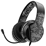 Gaming stereo headset with boom microphone compatible with all audio devices with mini-jack 3.5mm Ideal for PC, laptop, PS4, PS5, XB1, xb series X/S and Switch consoles 40mm drivers, with high performance magnets providing a ound and an Omni-directio...