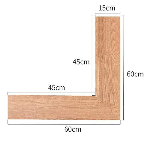 Wandrekken van massief hout, bevestiging aan de muur in de slaapkamer in de salon, weinig ruimte in hoek 60cm Houtkleur.