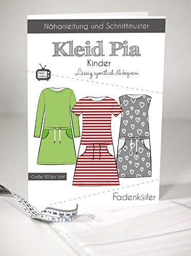Schnittmuster Fadenkäfer Kleid Pia - Kinder Gr.92-164 Papierschnittmuster