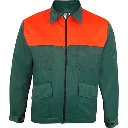 Prevent Waldarbeiter-Jacke FJ, grün/leuchtorange, Gr. M