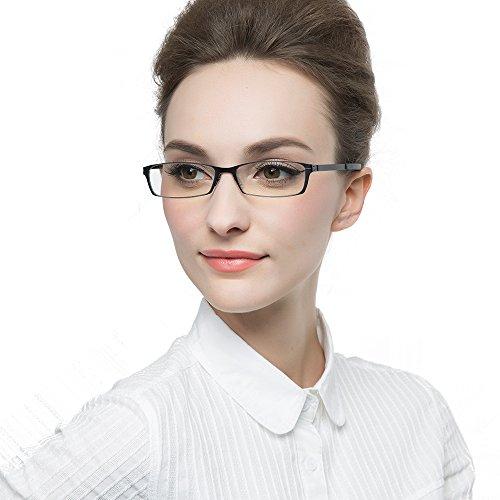 KLESIA 老眼鏡 ブルーライトカット 超軽量 コンパクトに収納 リーディンググラス ファッション (度数:+3.5, 赤 レッド)
