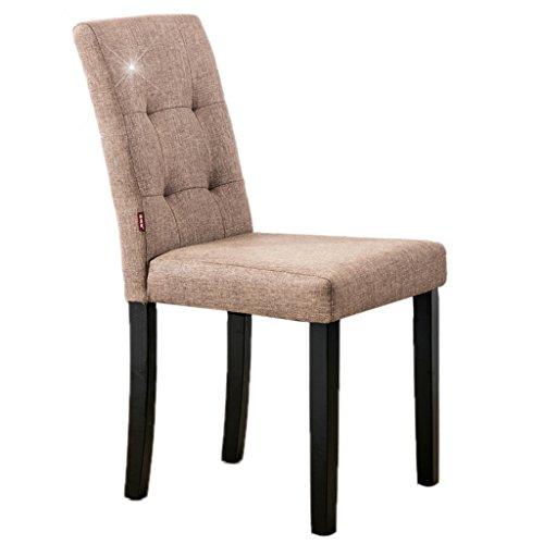 Chaise chaise de salle à manger en tissu en bois massif chaise de café chaise à la maison chaise de salle à manger élégante chaise d'ordinateur d'étude doux et confortable confort sédentaire