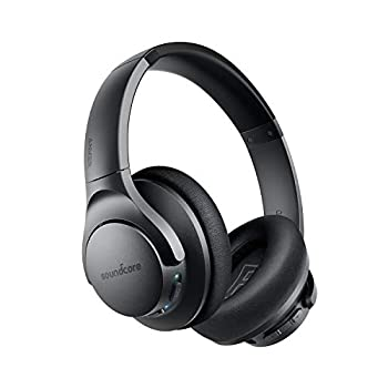 Anker Soundcore Life Q20 Hybrid Active Noise Cancelling Headphones Wireless Over Ear Bluetooth Headphones 40H Playtime Hi-Res Audio Deep Bass Memory Foam Ear Cups for Travel Home Office