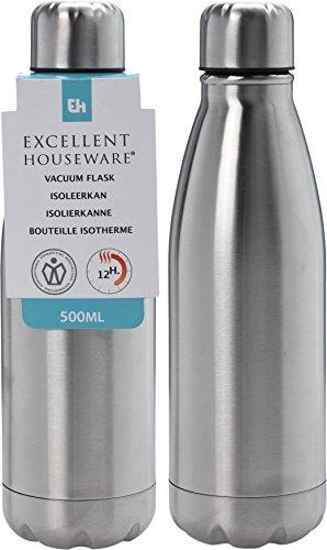 Adventure Goods Bouteille isotherme en acier inoxydable 500 ml