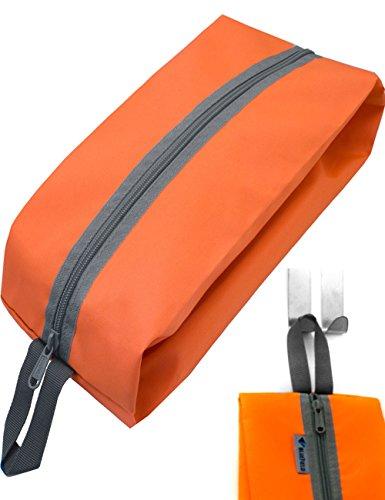 Outdoor Saxx® – Camping-Tasche Zelt-Tasche Schuh-Tasche, Ausrüstungs-Tasche Kultur-Beutel, Kleider-Tasche, Reiß-Verschluss Schlaufe strapazierfähig, 35x15x10cm orange