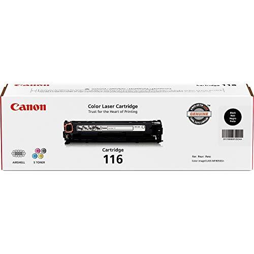 Canon Genuine Toner, Cartridge 116 Black (1980B001), 1 Pack, for Canon Color imageCLASS MF8050Cn, MF8080Cw Laser Printers (CNMCRTDG116BK)