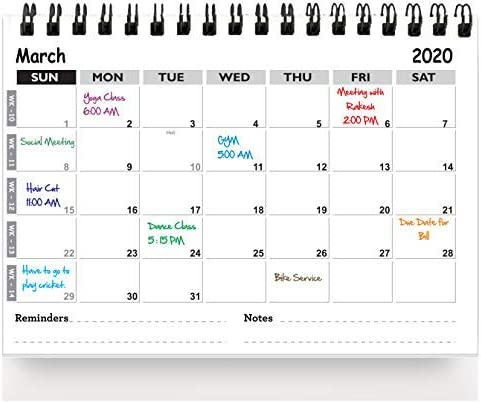 Accuprints Til Dec 2021 Planner, Organizer & Reminder Desk Calendar for Desk for Office Home Table Kids All Year Stud...