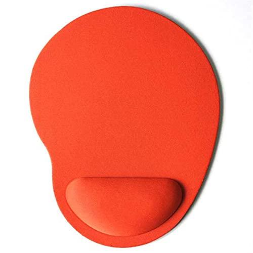 BEIMODZ Alfombrilla de Ratón Color sólido Alfombrilla de ratón EVA Pulsera Ratones cómodos Mat para el Juego Computer PC Laptop Antideslizante Orange