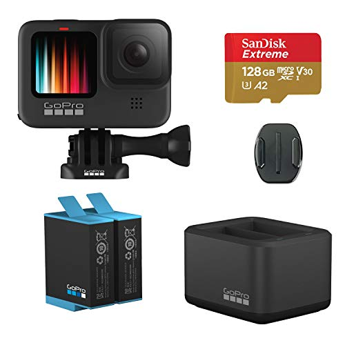 GoPro HERO9 Black Action Camera with GoPro Dual...