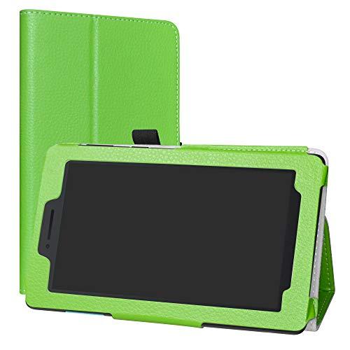 LiuShan Lenovo TAB E7 hülle, Folding PU Leder Tasche Hülle Case mit Ständer für 7.0