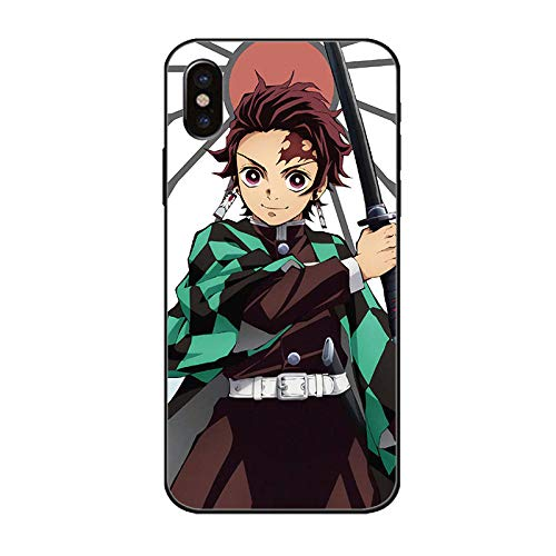 Demon Slayer Phone Case para iPhone 12 iPhone 12 Pro/Pro MAX Ultra-Thin Soft TPU Glass Bumper Protective-12 Pro-Demon_Slayer_For_iPhone_6