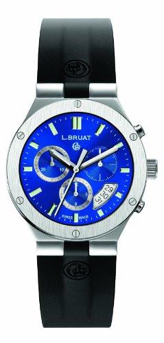 L.BRUAT 406012 - Reloj, Correa de Goma Color Negro
