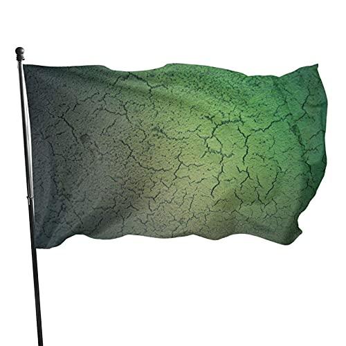 GOSMAO Bandera de jardín Texturas Verdes Color Vivo y Resistente a la decoloración UV Bandera de Patio con Doble Costura Bandera de Temporada Bandera de Pared 3x5 pies