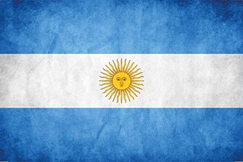 FS landvlag, Argentinië, nationale vlag, metalen bord, bordje, gebogen metalen sign, 20 x 30 cm