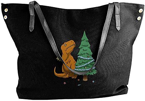 gxianyuyib Schmücken weihnachtsbaum handtaschen für frauen leinwand einkaufstasche umhängetasche lagerung einkaufen