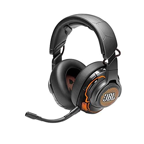 Fone de ouvido para jogos JBL Quantum ONE – desempenho circum-auricular com cancelamento ativo de ruído – Preto
