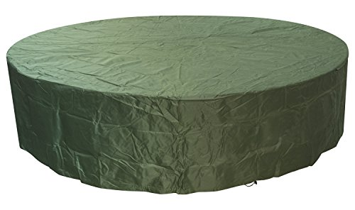 Woodside Green 8-10 Seater Round Waterproof Outdoor Garden Patio Furniture Set Cover Heavy Duty 600D Material 0.8m x 3.22m / 2.6ft x 10.5ft 5 YEAR GUARANTEE
