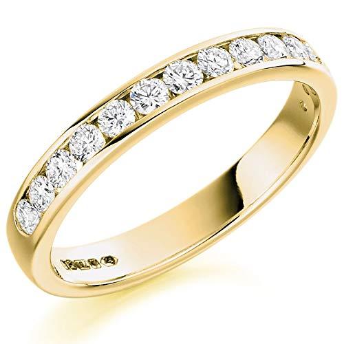 18ct Gold Channel-Set Diamond Eternity Ring (O) HET1310 18Y O