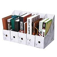 ファイルボックス 5個大理石パターンクラフト紙ファイルマガジン収納ボックス用