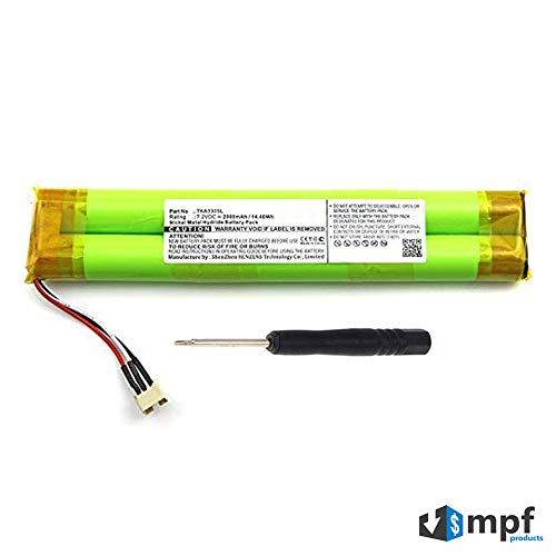 MPF Products 2000mAh Ni-MH Battery Replacement Compatible with TDK Life on Record A33 Wireless Weatherproof Bluetooth Speaker
