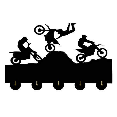 Wall Mount Biker Gear Helmet Hook Fatboy Keyring Holder Motorcycle Key Hanger