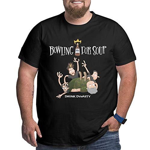 Bowling for Soup Drunk Dynasty Herren T-Shirt Plus Size Xl-6xl Kurzarm T-Shirt Rundhals Baumwolle Sport Tops XL