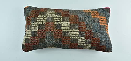 Kelim A1767 - Cojín (25 x 50 cm, funda de almohada Kelim, 25 x 50 cm)