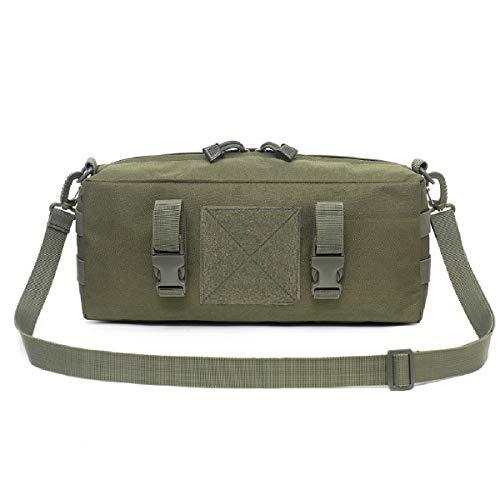 TRIWONDER Taktische Umhängetasche, Molle Brusttasche Crossbody Bag, Schultertasche für Trekking Camping Wandern Reisen (Grün)
