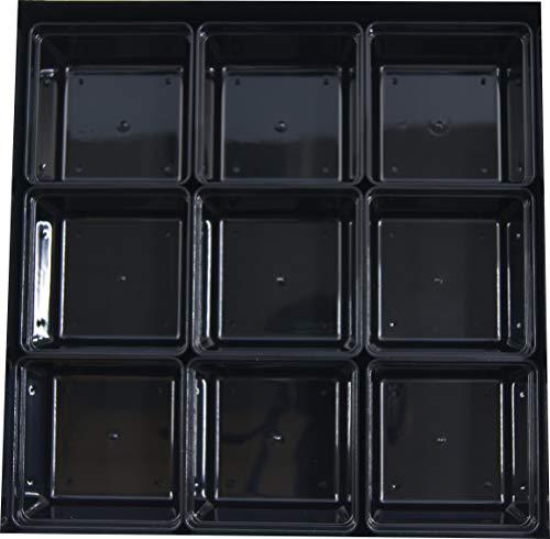 6.0寸重用PC仕切Qタイプ黒9個組セットお重内径1...