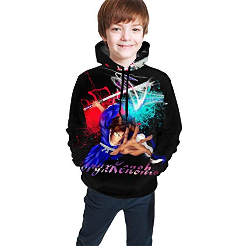 CXK-Best Samurai Teen Hooded Printed Hoodie Sweatshirt Casual Hat Pocket Pullover Sweaters Boys Girls