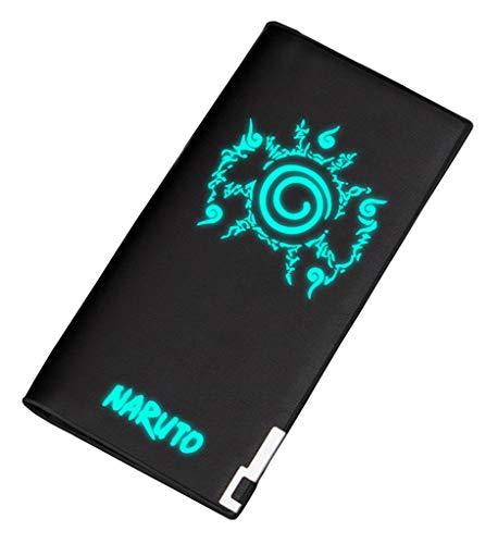 Cosstars Naruto Anime Leuchtend Bifold Brieftasche Kunstleder Schlanke Geldbörse Portemonnaie Kreditkartenhülle /4