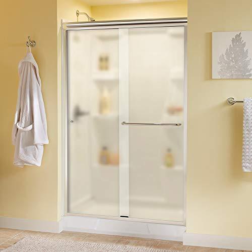 """Delta Shower Doors SD3956944 Classic Semi-Frameless Traditional Sliding Shower 48""""x70"""", Chrome Track"""