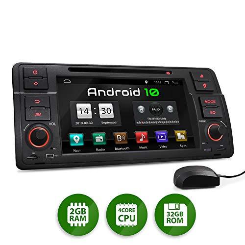 XOMAX XM-70BA Radio de Coche con Android 10 Adecuado para BMW I Quad Core, 2GB RAM, 32GB ROM I GPS I Soporte WiFi, 3G, 4G, Dab+, OBD2 I Bluetooth I 7' Pantalla Táctil I DVD, CD, USB, SD, RDS