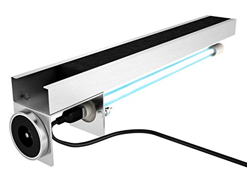 Pure UV Whole House PCO UV-C Light system with Activated Carbon filter with magnet for HVAC Ac air conditioning coil. 16.75' long
