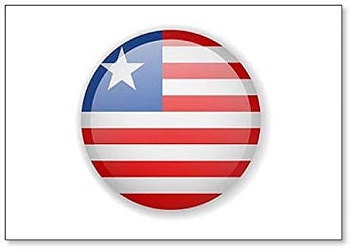 Kühlschrankmagnet, Motiv Liberia Flagge, r&