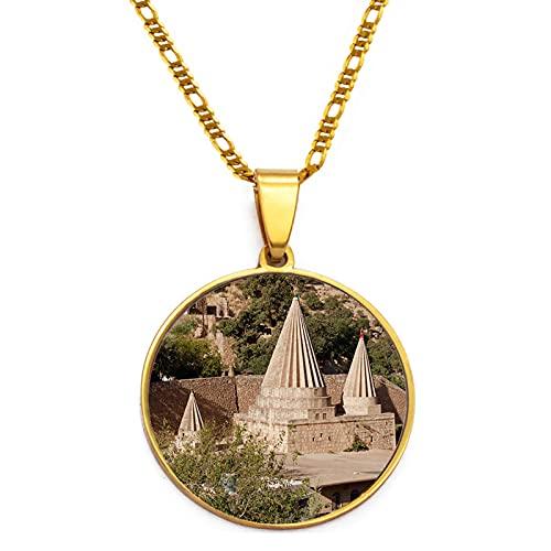 TUDUDU Collares Pendientes El Templo más Sagrado del para Mujeres Hombres niñas Longitud 60 cm o 23,6 Pulgadas