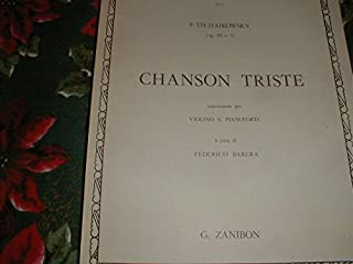 Tchaikowsky Chanson Triste for Violin & Piano