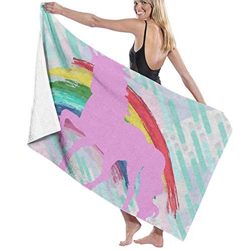 Ahdyr Badetücher Rainbow Horse Beach Travel Ultraweicher Dicker Handtuch Teppich 31 ' & Times; 51' für Erwachsene Männer Frauen Pool Dusche