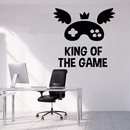 yuandp King of Game Quote wandtattoos spel wooncultuur muursticker voor baby kinderen slaapkamer woonkamer decoratie wandafbeeldingen behang 42 * 42 cm