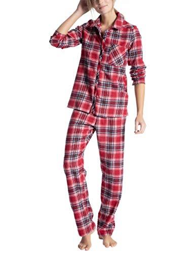 CALIDA Damen Family & Friends Zweiteiliger Schlafanzug, Rot (Rio Red 167), 48 (Herstellergröße: L)