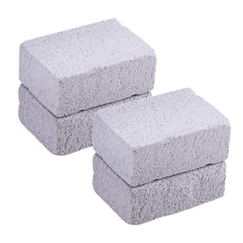 DOITOOL 4-Delige Grillreinigingssteen - Bakplaat Puimsteenreinigingssteen Stenenreiniger - Verwijder Vlekkenresten Vuil Geschikt Voor Bbq- Keuken- en Huishoudelijke Reiniging