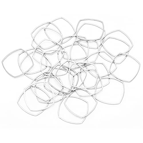 BOLORAMO Colgantes de Molde de Marco en Blanco, Colgante de Marco Abierto de 30 Piezas con fabricación Profesional para Hacer Collares para Hacer llaveros para Bricolaje(Pequeño * 30)