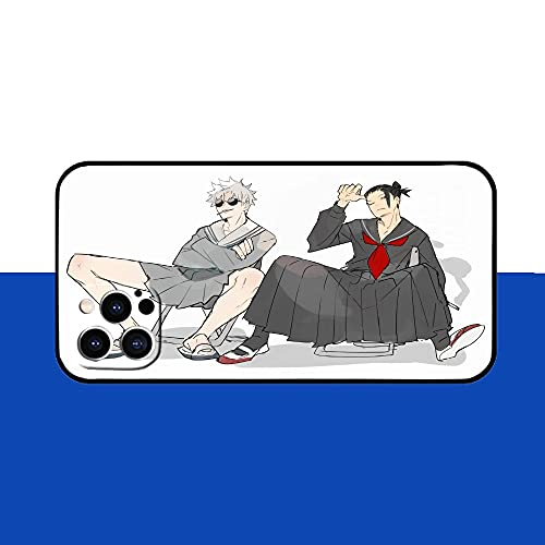 DDNJSGLJ Anime Jujutsu Kaisen Gojo Satoru Anime Design Soft Silicone TPU Animation Cool Phone Case for iPhone 11 12 Pro XS MAX XR X 7 8 6 Mini Plus SE 2021-A06_For iPhone 6Plus
