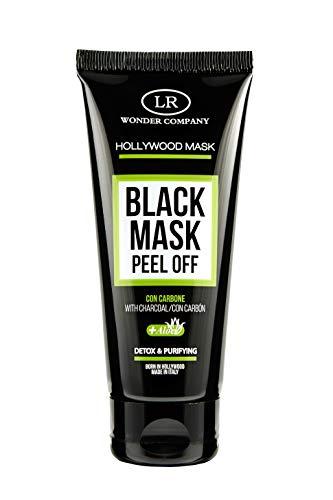 Hollywood Black Mask Tube, maschera viso al carbone Peel Off in tubo (1x100ml) - LR Wonder Company