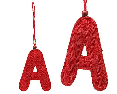 Atosa - 34470 - VR. Accessoire noël 8x11x1cm Textile Rouge