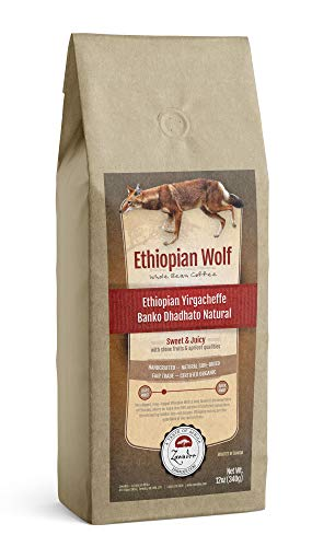 Whole Bean Coffee Ethiopian Wolf Ethiopian Yirgacheffe Natural 1 lb