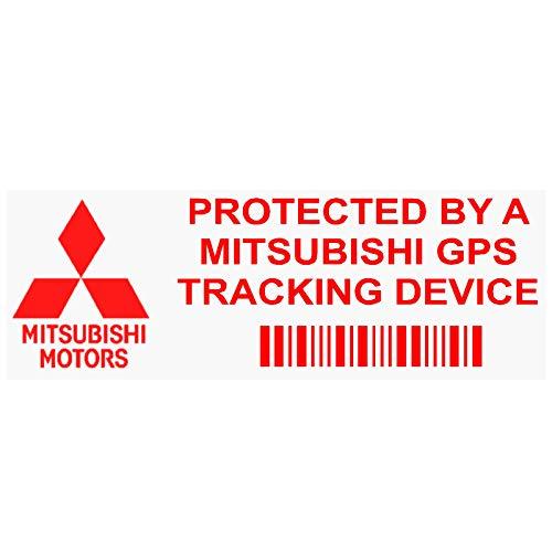 Platinum Place IPMITSUBISHIGPSRED GPS rojo sobre dispositivo de seguimiento transparente de seguridad de ventana de 87 x 30 mm - Rastreador de alarma para coche, furgoneta