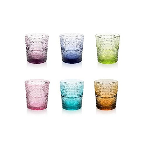 IVV mod.SPEEDY set 6 bicchieri cl. 28 colori assortiti in vetro soffiato pz.1