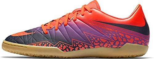 Nike 749898-845 Herren Hallenfußballschuhe, Mehrfarbig (Pures Karmesinrot/Lebhaftes Lila/Obsidian), 40.5 EU