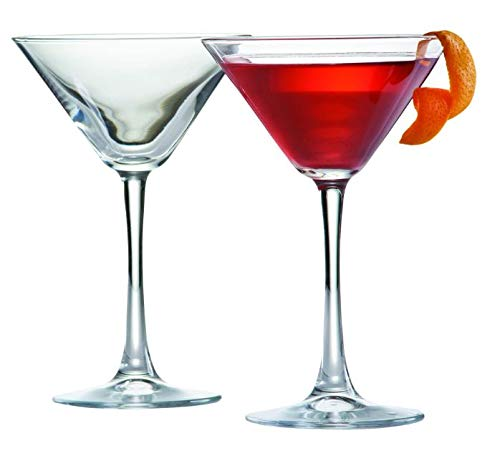 Juego de 6 vasos de coñac (390 ml, 6 vasos, 6 vasos de whisky, 2 unidades, 175 ml)